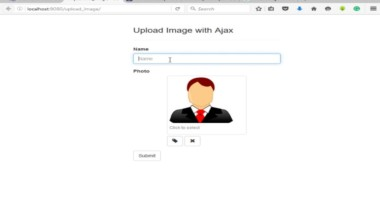 How to upload php form image with ajax