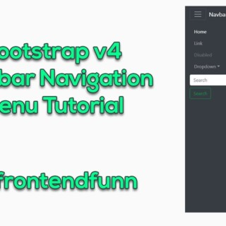Bootstrap 4 Sidebar Navigation Menu Tutorial