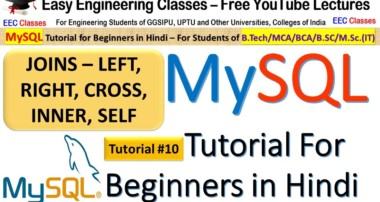 MySQL Tutorial #10: JOINS – Cross, Inner, Left, Right and Self Join with Solved Examples