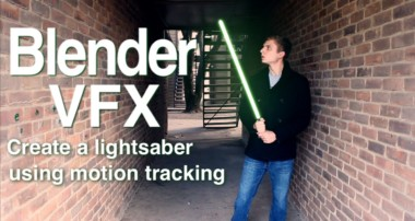 Blender VFX tutorial: Two point motion tracking.