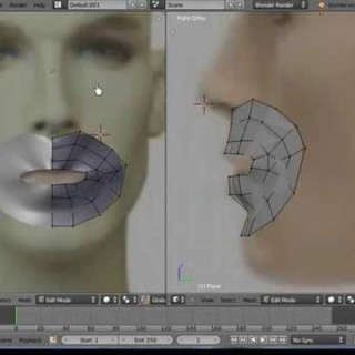 Blender 3D Tutorial – Beginners, Face Modeling with Plane Mesh by VscorpianC