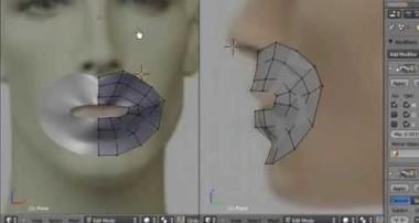 Blender 3D Tutorial – Beginners, Face Modeling with Plane Mesh by VscorpianC