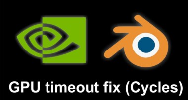 How to solve a common Blender GPU timeout render error (windows)