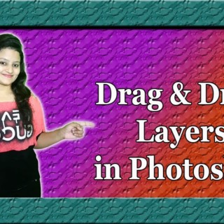 How to Drag and Drop Layers in Photoshop | photoshop tutorials By Ps Art