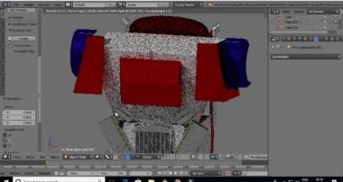 Optimus Prime 3D Model Time Lapse (Blender)