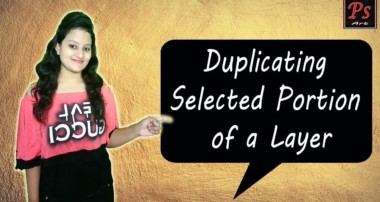 How to Duplicate Selected Portion of a Layer | photoshop tutorials By Ps Art