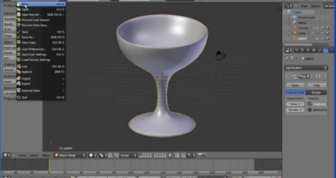 Blender Tutorial Making a Model of a Goblet/Wine Glass Using the Spin Tool (Lathe Operation)