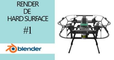 Render Hardsurface – Iluminacion- Cycles – Blender – Directo [Tutorial Español] Drones