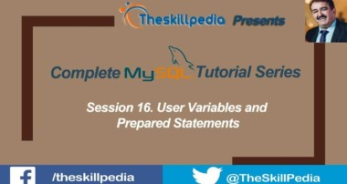 MySQL Tutorial #16 User Variables and Prepared Statements