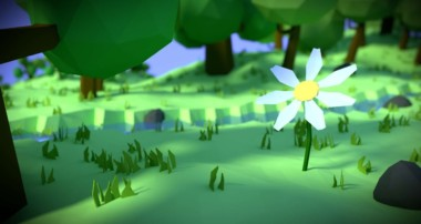"""Flower in the forest"" scene using Blender 3D with Cycles [Timelapse]"