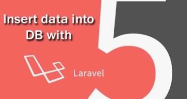 Laravel 5 tutorial, How To Insert Data in Database