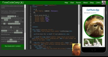 Ditch Custom CSS for Bootstrap, freeCodeCamp Bootstrap Review, lesson 10