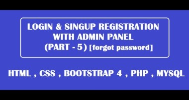 forgot password / change password using html,css,bootstrap,php,mysql (part 5)