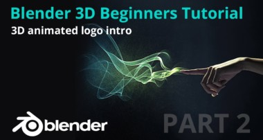 Blender 3D beginners tutorial – 3D animated logo intro – Part 2
