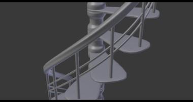 Blender Tutorial – How To Model Spiral Stairs In Blender
