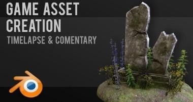 Gravestone | Game asset workflow | Tutorial | Blender