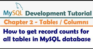 How to get record counts for all tables in MySQL database – MySQL developer Tutorial