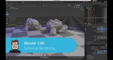 Spherical Rendering in Blender 2.80