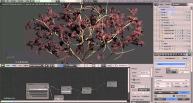 Quick Shrubs in Blender with the SCA Tree Generator Addon