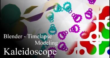 Blender 3D modeling timelapse – Kaleidoscope