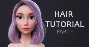 Blender Hair Tutorial Part 1 (styling the hair)