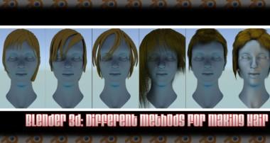 Blender 3d: Different Methods For Making Hair
