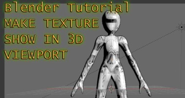 Show Textured Material In 3D Viewport – Blender Tutorial