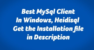 Best Mysql Client for Windows