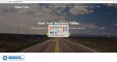 #5 – Créer un site web responsive en HTML, CSS, Bootstrap et jQuery : Page d'accueil(Partie 2)