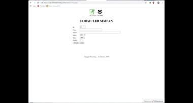 PHP MYSQL bagian 13 Membuat tanggal sekarang muncul di halaman web kita