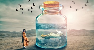 Mermaid in bottle photo manipulation | photoshop tutorial cs6/cc
