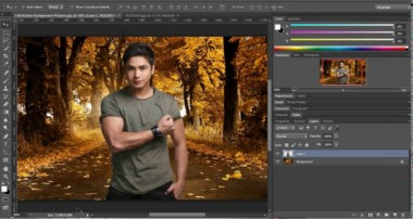 Photoshop tutorial How to change Background || Tagalog
