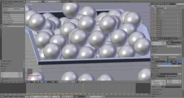 Blender (Cycles Render) Plastic Box –  Balls –  Physics