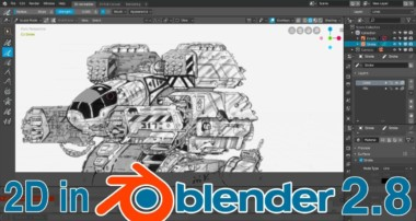2D In Blender 2.8 Is Amazing!
