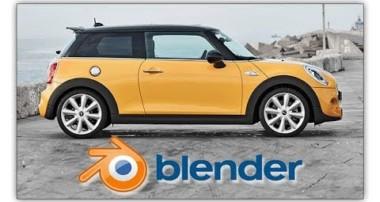 Blender 3D Modeling | Mini Cooper -Cycles Render (Timelapse) part 1