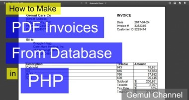 How to Make PDF Invoices From Database in PHP | PHP FPDF Tutorial #example1
