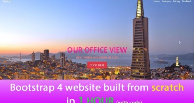 Bootstrap 4 website built from scratch in 1 hour 2018 (with code)