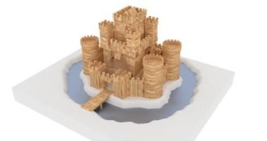 Animated wooden castle in Blender 3D – version 2