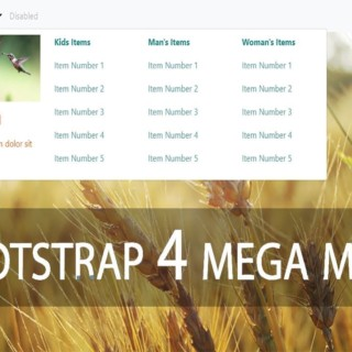 How to Create Mega Menu with Bootstrap 4 with CODE