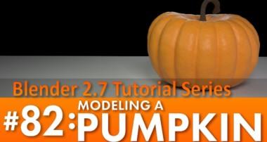 Blender 2.7 Tutorial #82: Modeling a Pumpkin #b3d