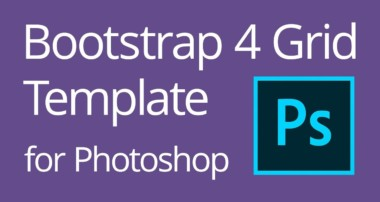 Bootstrap 4 Grid Template for Photoshop Tutorial