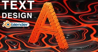 Blender – Abstract Text Design (Blender 2.8)