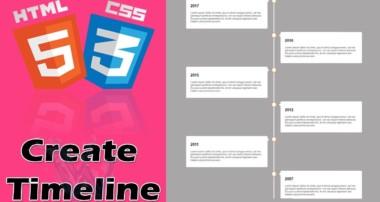 Vertical Timeline CSS Bootstrap   HTML5 Timeline Animation   HTML Timeline CSS