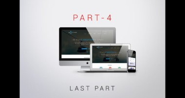 PSD Template Design with Bootstrap Grid Layout One Page Template in Photoshop CC Last Part 4