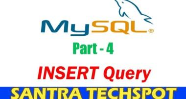 #4 | INSERT Query in MySQL Data Base | MySQL Tutorial in Tamil