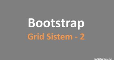 Bootstrap Grid Seçenekleri