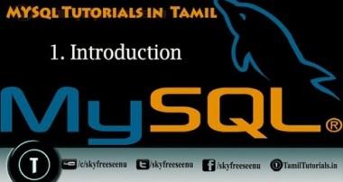 MYSQL Tutorials in Tamil 1  Introduction