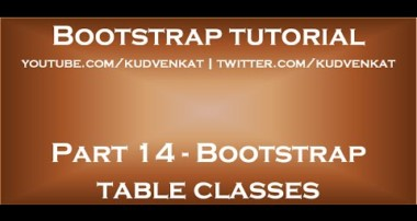 Bootstrap table classes
