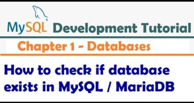 How to check if database exists in MySQL – MySQL Developer Tutorial