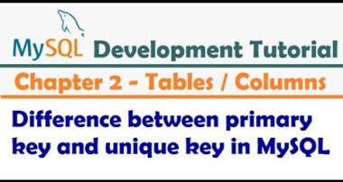 Difference between primary key and unique key in MySQL  – MySQL Developer Tutorial